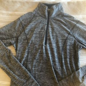 Old Navy Active Semi-Fitted Gray Zip Up